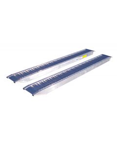 Aluminum Loading ramp, 2.95mtr x 0.3mtr x 0.11mtr without edge and load capacity of 3300-3700Kg